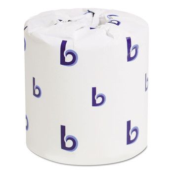 Boardwalk B6170 One-Ply Toilet Tissue, 1000 Sheets, White, 96 Rolls/Carton