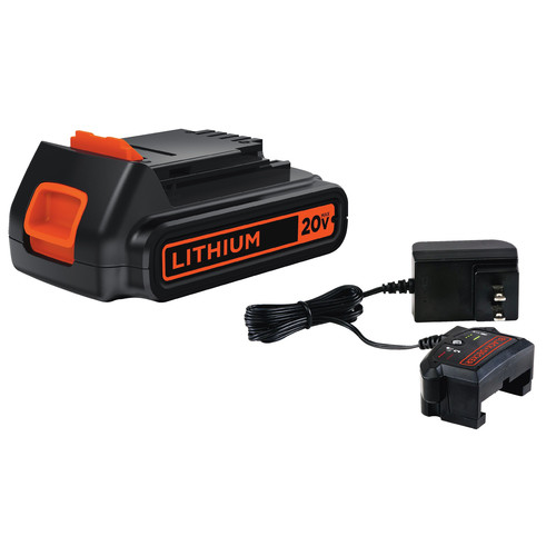 Black & Decker LBXR20CK 20V MAX 1.5 Ah Lithium-Ion Battery and Charger Kit image number 0
