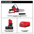 Milwaukee 2527-21 M12 FUEL HATCHET Brushless Lithium-Ion 6 in. Cordless Pruning Saw Kit (4 Ah) image number 1