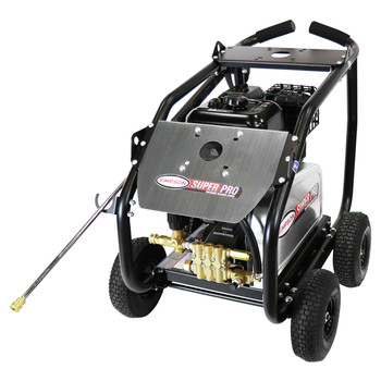 Simpson 65211 4400 PSI 4.0 GPM Belt Drive Medium Roll Cage Professional Gas Pressure Washer with Comet Pump