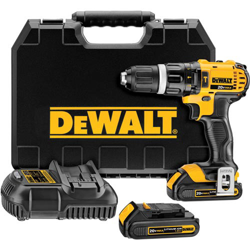 Factory Reconditioned Dewalt DCD785C2R 20V MAX Lithium-Ion Compact Hammer Drill Driver Kit
