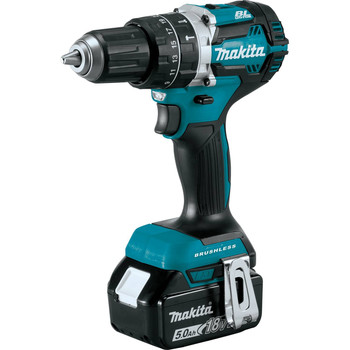 Makita XPH12T 18V LXT Lithium-Ion Compact Brushless 1/2 in. Cordless Hammer Drill Driver Kit (5 Ah) image number 1
