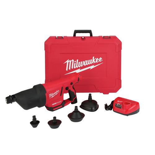 Milwaukee 2572A-21 M12 AIRSNAKE Drain Cleaning Air Gun Kit