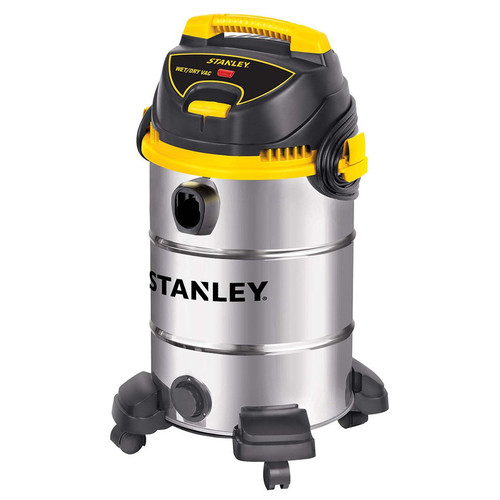 Stanley SL18017 4.5 Peak HP 8 Gallon Portable S.S. Wet Dry Vac with Casters
