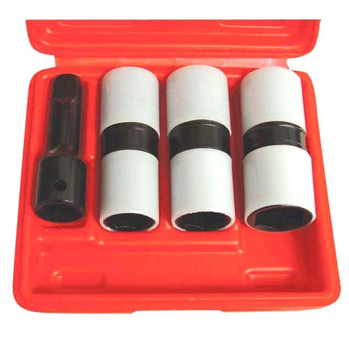 Astro Pneumatic 78803 3-Piece 1/2 in. Drive Thin Wall Flip Impact Socket Set with Protective Sleeve