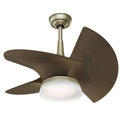 Casablanca 59138 Orchid Pewter Revival 30 in. Walnut Indoor Ceiling Fan with Light and Wall Control
