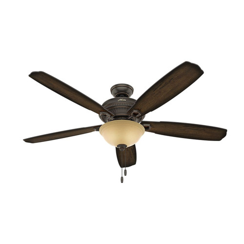 Hunter 54174 60 in. Ambrose Bengal Bowl Ceiling Fan with Light (Onyx)