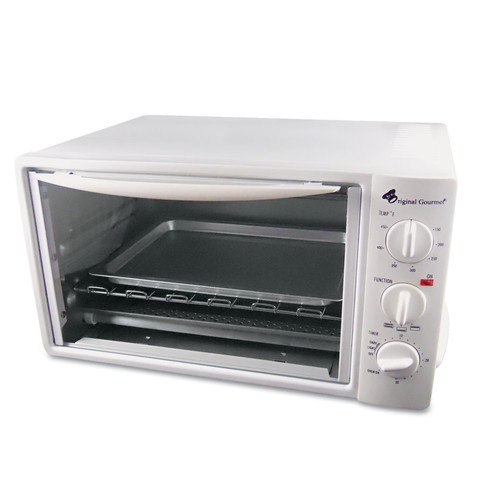 Coffee Pro OG20 Multi-Function Toaster Oven With Multi-Use Pan, 15 X 10 X 8, White