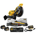 Dewalt DHS790AT2 120V MAX Cordless Lithium-Ion 12 in. Sliding Compound Miter Saw Kit with 2 FLEXVOLT Batteries & Adapter