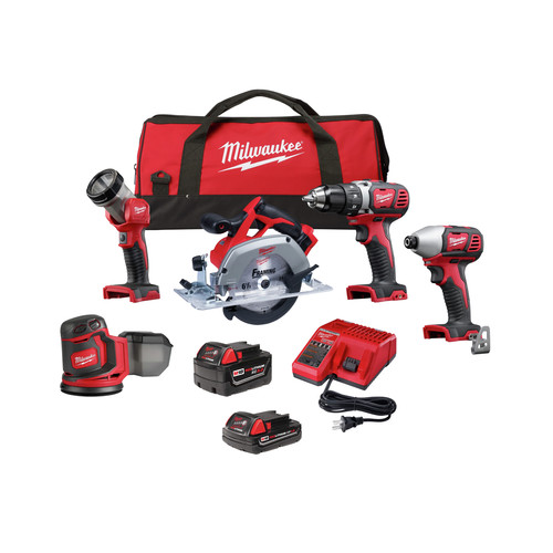 Milwaukee 2696-25 M18 Lithium-Ion Cordless 5-Tool Combo Kit image number 0