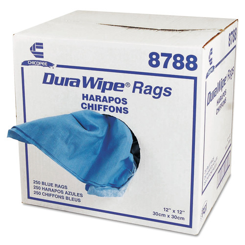 Chicopee Mfg. 8788 Durawipe General Purpose Towels, 12 X 12, Blue, 250/carton