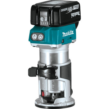 Makita XTR01T7 18V LXT 5.0 Ah Cordless Lithium-Ion Brushless Compact Router Kit image number 1