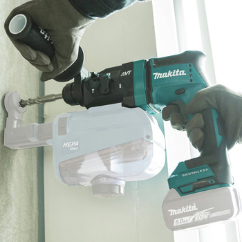 Makita XRH12Z 18V LXT Lithium-Ion Brushless 11/16 in. AVT AWS Capable Rotary Hammer, accepts SDS-PLUS bits (Tool Only) image number 5