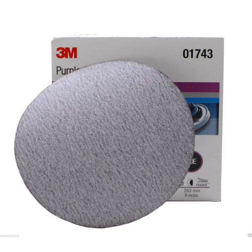 3M 1743 8 in. P80E Imperial Hookit Disc 745I (25-Pack)