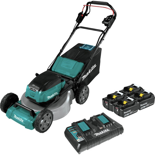 Makita XML06PT1 18V X2 (36V) LXT Lithium-Ion Brushless Cordless 18 in. Self-Propelled Commercial Lawn Mower Kit with 4 Batteries (5.0Ah) image number 0