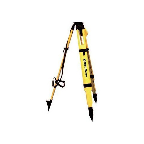CST/berger 60-WDF20-B 63 in. Quick-Clamp Wood/Fiberglass Flat Head Heavy-Duty Tripod (Black)