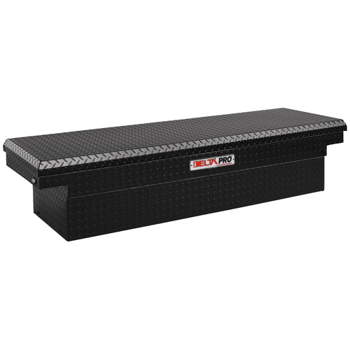 Delta PAC1599002 Aluminum Single Lid Deep & Extra-Wide Full-size Crossover Truck Box (Black)