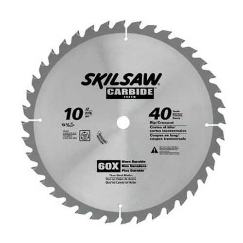 Skilsaw 75140 10 in 40 tooth combination cutting circular saw blade greentooth Gallery