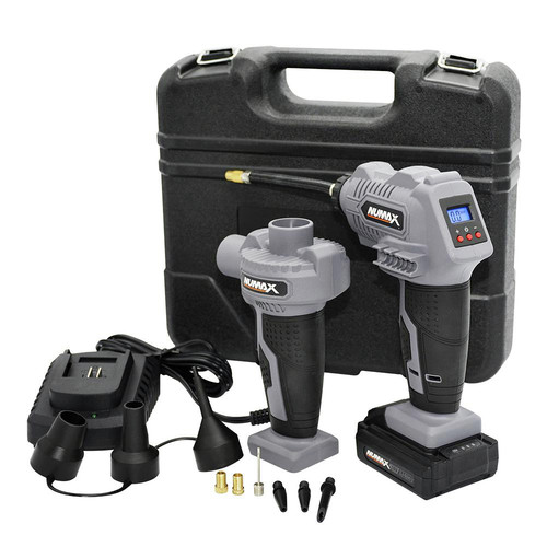 NuMax SH16VIPK Cordless 16V Power Inflator and Air Pump Kit with Case image number 0
