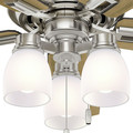 Hunter 53338 52 in. Donegan Brushed Nickel Ceiling Fan with Light image number 9
