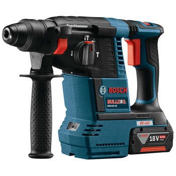 Factory Reconditioned Bosch GBH18V-26K-RT 18V 6.0 Ah EC Cordless Lithium-Ion Brushless 1 in. SDS-Plus Bulldog Rotary Hammer Kit image number 1