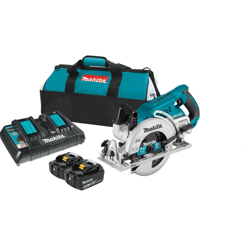 Makita XSR01PT 18V X2 LXT (36V) Brushless Cordless Rear Handle 7-1/4 in. Circular Saw Kit (5.0Ah)