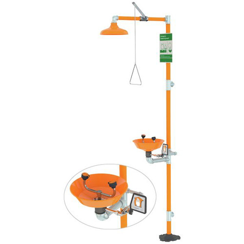 Guardian G1902P 12 in. Eye Wash and Shower Stations - SS and Safety Orange image number 0