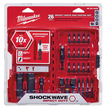 Milwaukee 48-32-4408 SHOCKWAVE Drive and Fasten Bit Set (26 Pc) image number 0