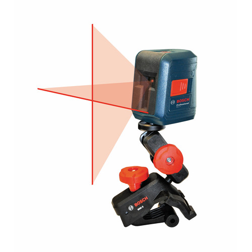 Bosch GLL2 Self-Leveling Cross Line Laser with Flexible Mount