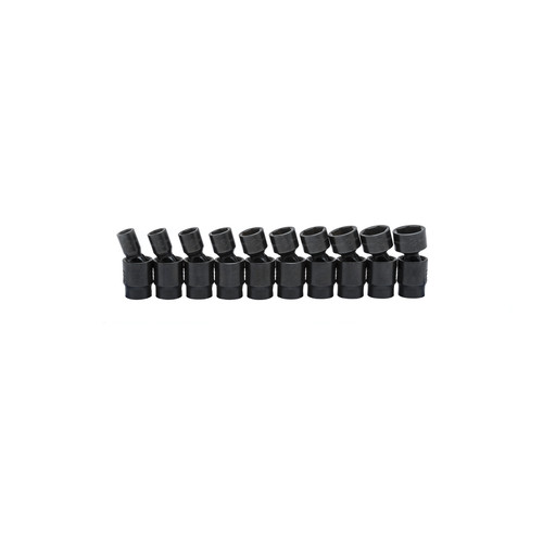GearWrench 84921 10-Piece Metric 3/8 in. Drive 6 Point Pinless Impact Universal Impact Socket Set