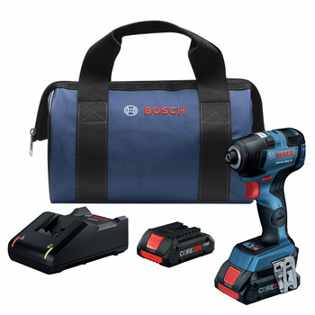 Bosch GDR18V-1800CB25 18V EC Brushless Connected-Ready 1/4 in. Hex Impact Driver Kit with CORE18V 4.0 Ah Compact Batteries