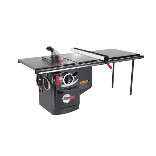 SawStop ICS51230-52 230V Single Phase 5 HP 19.7 Amp Industrial Cabinet Saw with 52 in. T-Glide Fence System image number 0