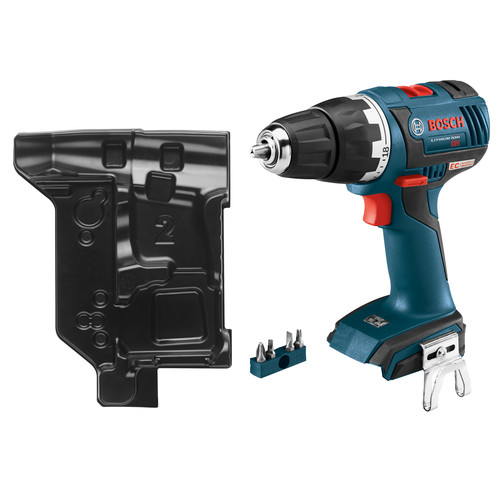 Factory Reconditioned Bosch DDS182BN-RT 18V Cordless Lithium-Ion 1/2 in. Brushless Compact Tough Drill Driver (Bare Tool) with L-BOXX Insert Tray
