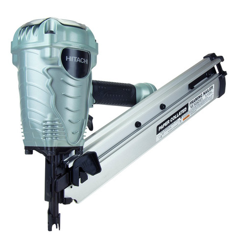 Hitachi NR90ADS1 35-Degree Paper Collated 3-1/2 in. Strip Framing Nailer