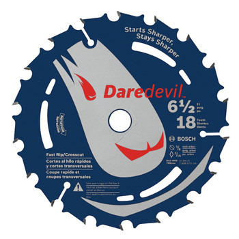 Bosch DCB618 Daredevil 6-1/2 in. 18 Tooth Circular Saw Blade