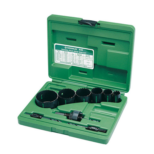 Greenlee 830 9-Piece Bi-Metal Hole Saw Kit for 1/2 in. to 2 in. Conduit