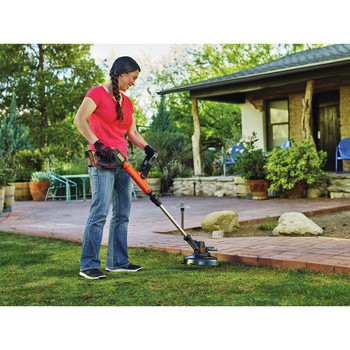 Factory Reconditioned Black & Decker LSTE525R 20V MAX 1.5 Ah Cordless Lithium-Ion EASYFEED 2-Speed 12 in. String Trimmer/Edger Kit image number 6