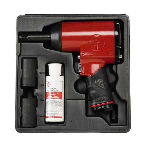 Chicago Pneumatic 749K 1/2 in. Impact Wrench High Torq with  Sockets & Case image number 0