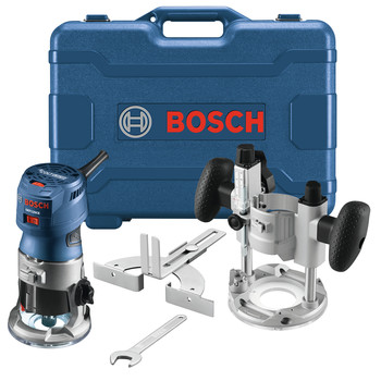 Bosch GKF125CEPK Colt 1.25 HP Variable-Speed Palm Router Combination Kit (7 Amp) image number 0