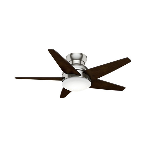 Casablanca 59019 44 in. Contemporary Isotope Brushed Nickel Espresso Indoor Ceiling Fan