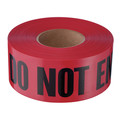 "Empire 11-081 Do Not Enter Barricade Tape, 3-in x 1000 ft, ""Do Not Enter"" Text, Red/Black"