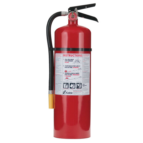 Kidde 466204 ProLine 10 lbs. 4-A;60-B:C Rated Dry Chemical Rechargeable Fire Extinguisher