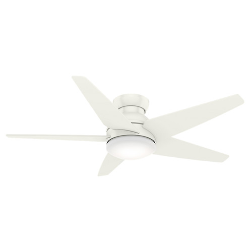 Casablanca 59354 52 in. Isotope Fresh White Ceiling Fan with Light and Wall Control