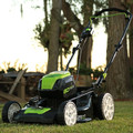 Greenworks GLM801601 80V Lithium-Ion 21 in. 3-in-1 Lawn Mower Kit image number 3