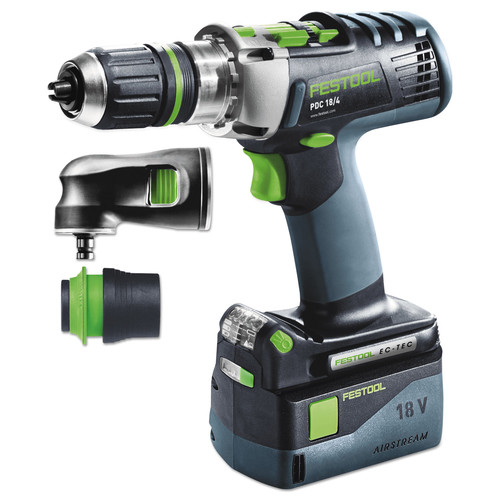Festool 574708 PDC 18/4 Cordless Percussion Set Hammer Drill Driver AirStream