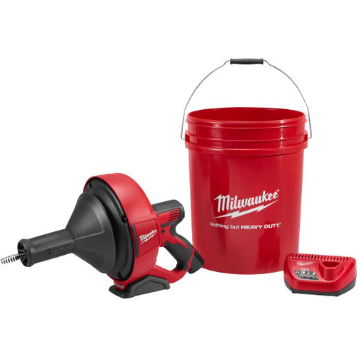 Milwaukee 2571-21 12V Cordless Lithium-Ion Drain Snake Kit with Bucket image number 0