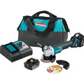 "Makita XAG11T 18V LXT Lithium-Ion Brushless Cordless 4-1/2"" / 5 in. Paddle Switch Cut-Off/Angle Grinder Kit, with Electric Brake (5.0Ah)"