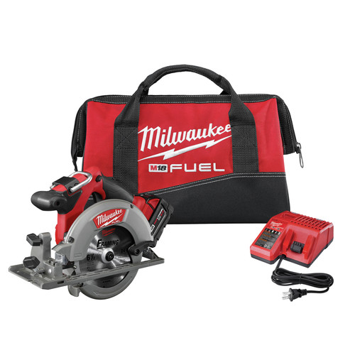 Factory Reconditioned Milwaukee 2730-81 M18 FUEL 18V Cordless 6-1/2 in. Circular Saw with REDLITHIUM Battery