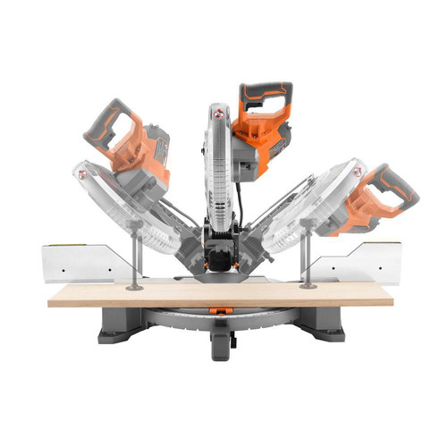 Factory Reconditioned Ridgid ZRR4122 12 in. Dual Bevel Compound Miter Saw with Laserguide image number 2