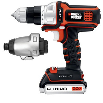 Black & Decker BDCDMT120IA 20V MAX Lithium-Ion MATRIX 3/8 in. Cordless Drill Driver / Impact Combo Kit